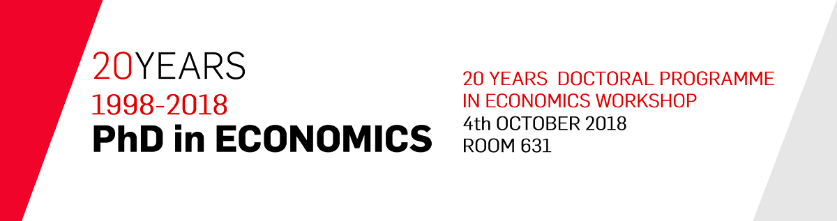 20 Years Doctoral Programme In Economics Workshop