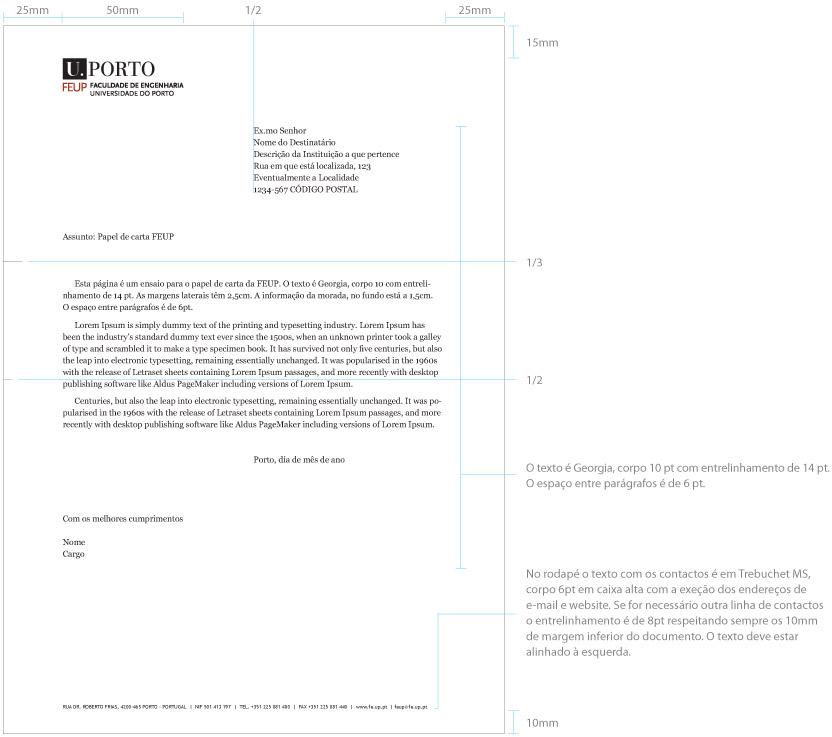Feup Papel De Carta Geral