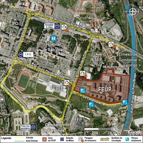 ipo porto localização mapa FEUP   Localização ipo porto localização mapa