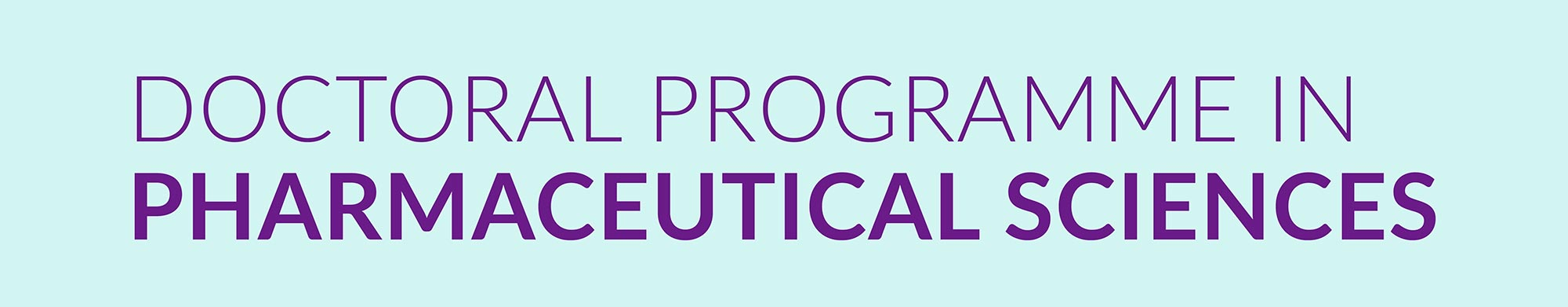 Doctoral Programme in Pharmaceutical Sciences