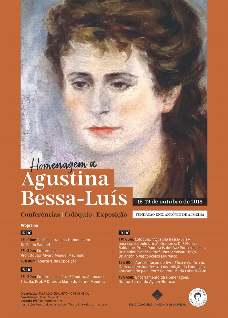 Homenagem a Agustina Bessa-Luís | Colóquio e Apresentação de Livro