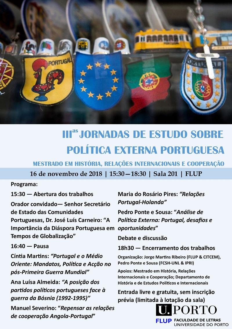 III Jornadas de Estudo sobre Política Externa Portuguesa
