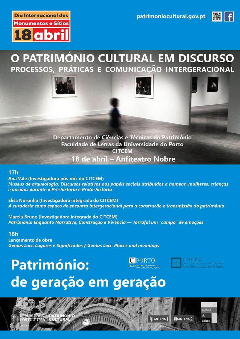 O Património Cultural em Discurso. Processos, Práticas e Comunicação Intergeracional