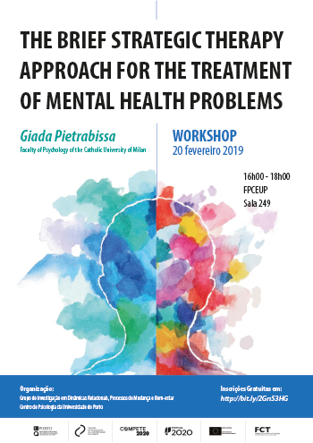 cartaz Workshop The Brief Strategic Therapy Approach for the Treatment of Mental Health Problems