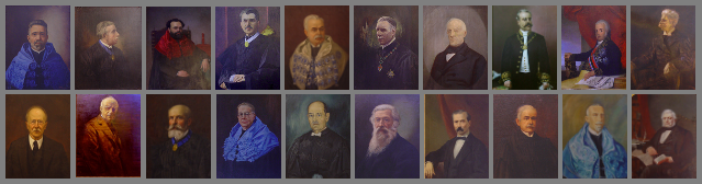 Image composed by several photographs of the Paintings of the Grand Hall of the University of Porto