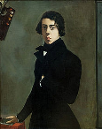 Auto-retrato de Chassériau (1835, Museu do Louvre, Paris) / Self-portrait of Chassériau (1835, Louvre Museum, Paris)