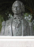 Fotografia do Busto de Eugénio dos Santos e Carvalho em Aljubarrota / Photo of the Bust of Eugénio dos Santos e Carvalho, Aljubarrota